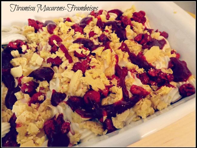 Tiramisu Macarons et Framboises