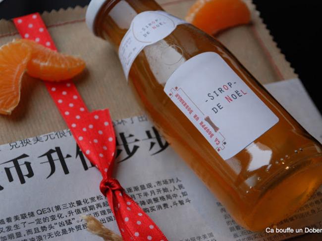 Sirop de Noël à la Mandarine
