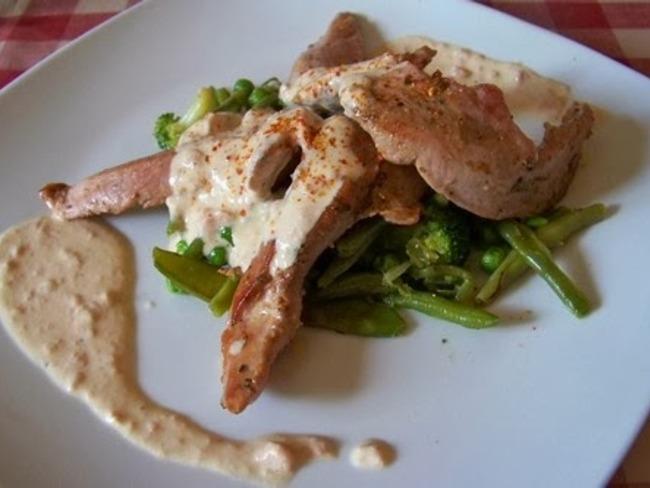 Aiguillettes de canard sauce au foie gras