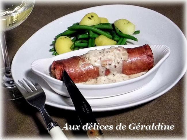 Andouillette de Troyes au vin blanc et à la moutarde à l'ancienne