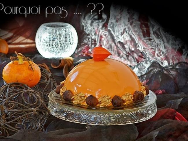 Bombe d'automne châtaignes, potimarron, pommes et noix