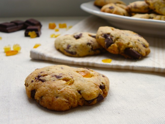 Cookies choco-cannelle et orange confite