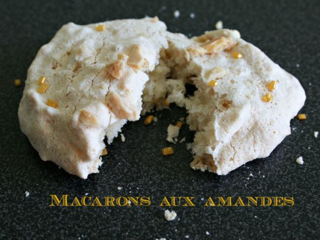 Macarons à l'ancienne aux amandes