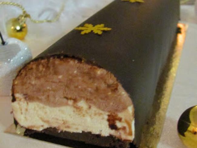 Bûche vanille, chocolat-tonka