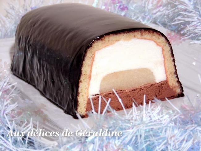 Bûche bavaroise poire chocolat