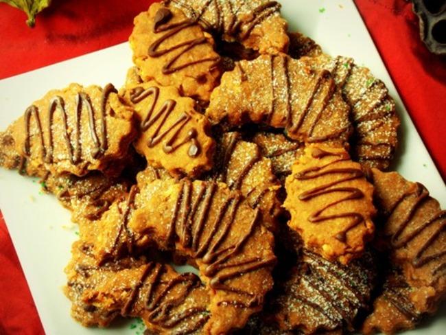 Sables de noel aux amandes et cacao