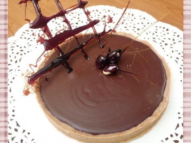 Tarte au chocolat corsé