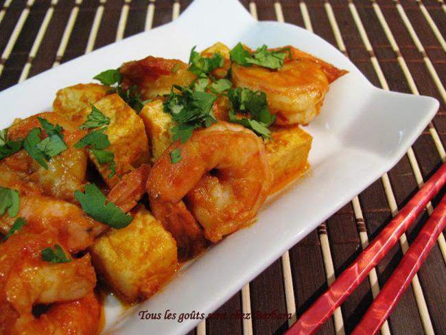 Tofu et crevettes à la vietnamienne