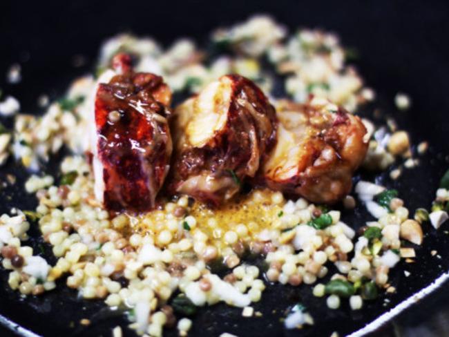 Tataki de homard et fregola sarda