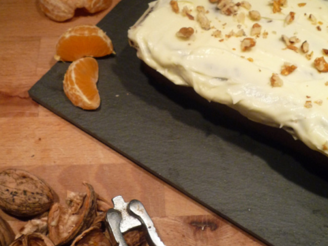 Pumpkin cake glaçage mascarpone
