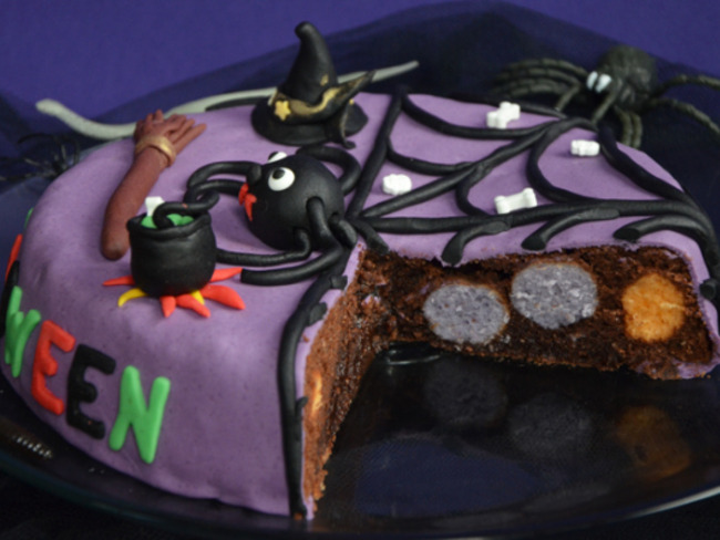 Gâteau d'Halloween chocolat yaourt