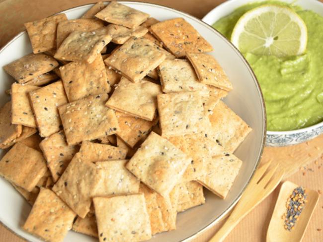 Crackers au sarrasin et aux graines