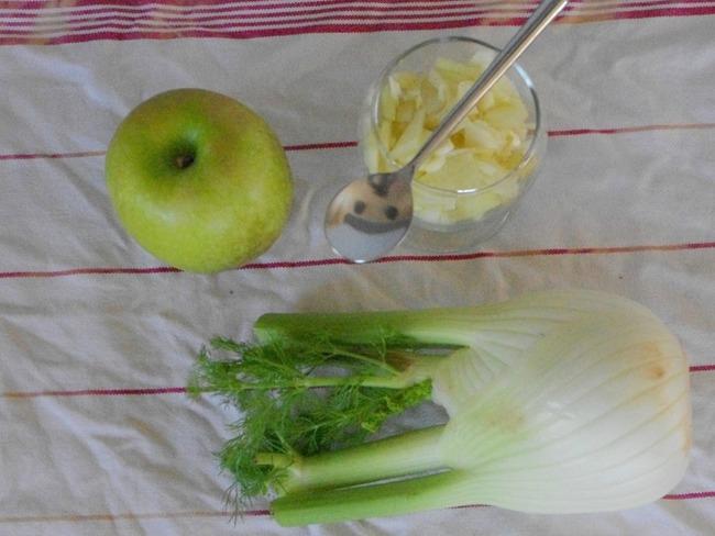Salade pomme verte fenouil