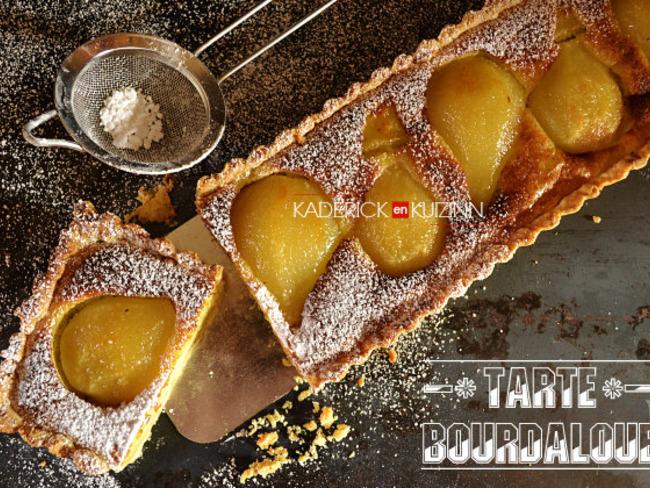 Tarte bourdaloue aux poires et crème d'amandes