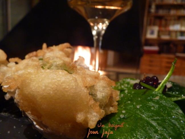 Huîtres en tempura