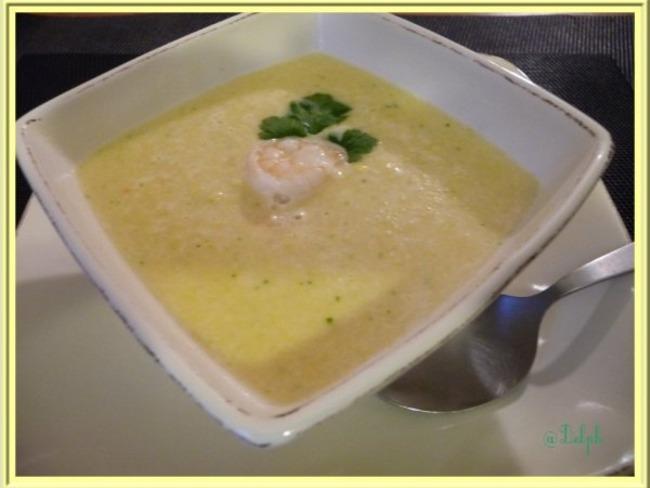 Soupe de Maïs au lait de coco