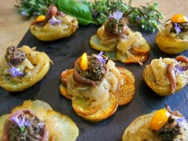 Pommes de terre de l'Ile de Ré en habit niçois façon Pissaladière