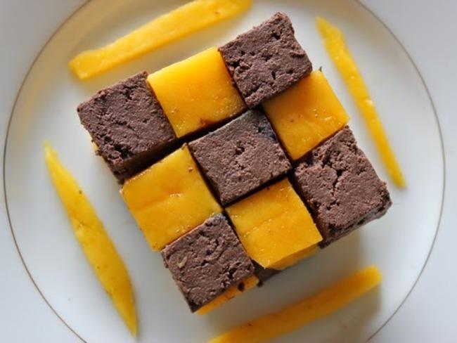 Damier mangue-chocolat