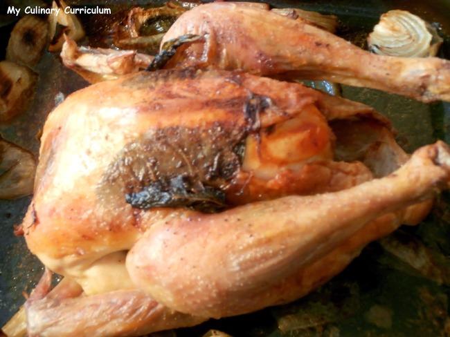 Poulet rôti à la menthe