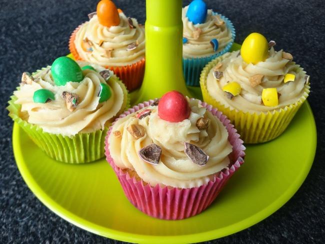 Cupcakes beurre de cacahuètes et M&M's