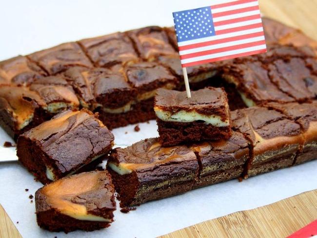 Brownie marbré façon cheesecake