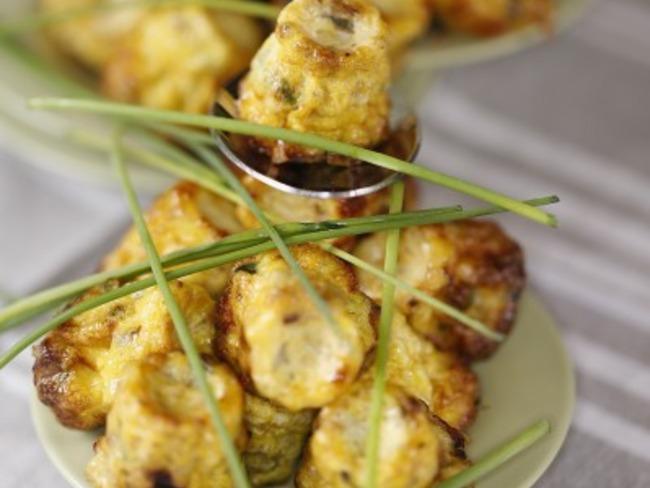bouchée d'omelette ail et fines herbes