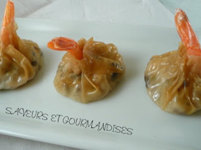 Wontons aux crevettes