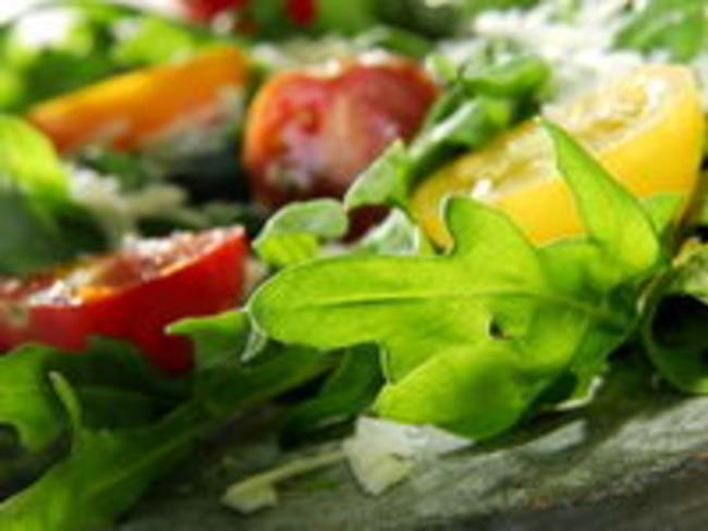 Salade composée au magret séché