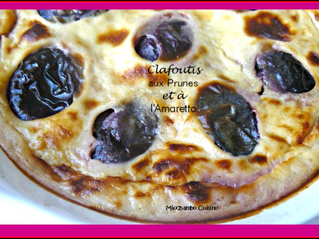 Clafoutis aux prunes et à l'amaretto