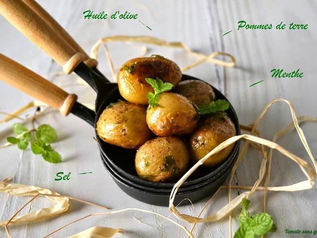 Petites pommes de terre à l'huile d'olive et à la menthe