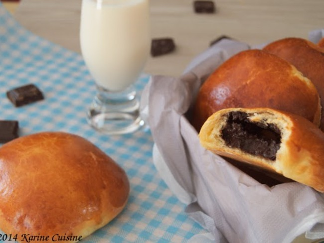 La brioche fourrée à la truffe au chocolat