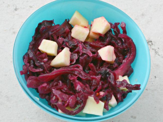 Chutney de chou rouge à la pomme