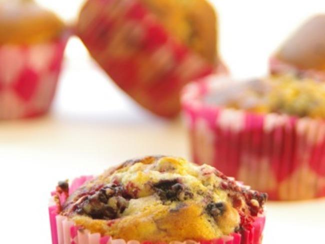 Muffins au citron et aux fruits rouges