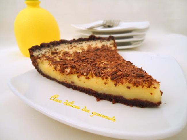 tarte chocolatée au citron