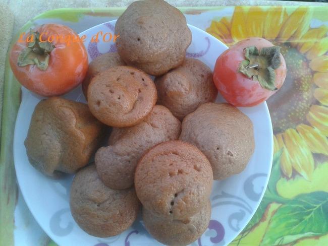 Muffins fondants aux kakis