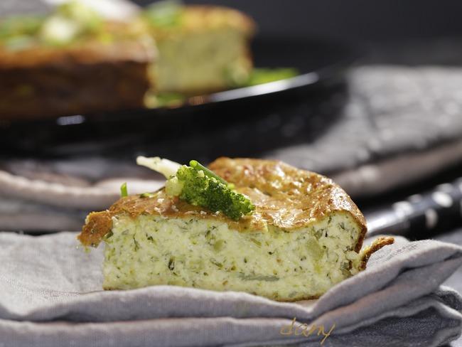 Gâteau au brocoli emmental et ciboulette
