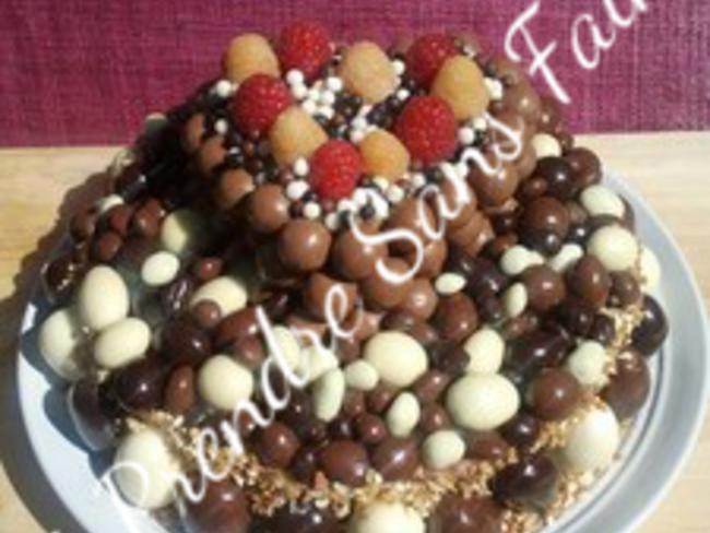 Gateau Vanille Framboises Aux Boules De Chocolat Pas A Pas En