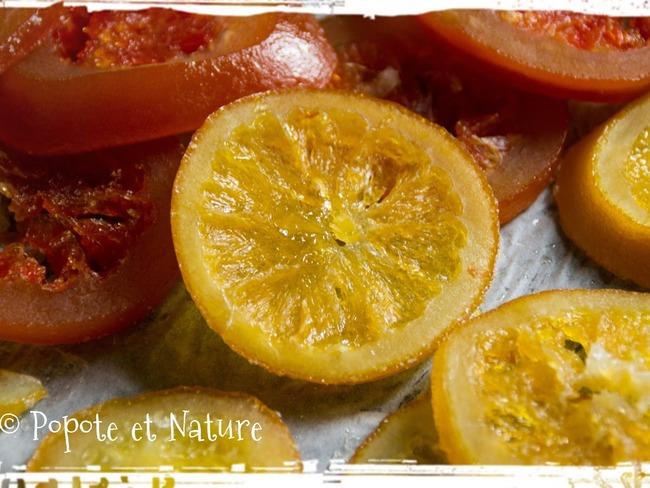 Oranges et pamplemousses confits