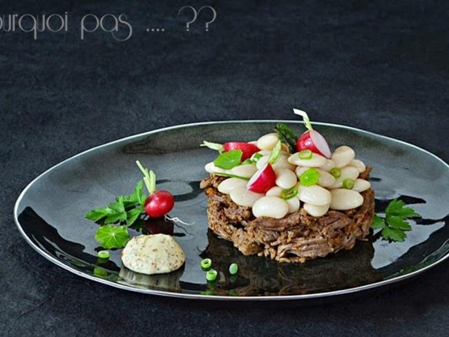 Joue de boeuf mijotée à la Curtius et salade de Haricots Tarbais