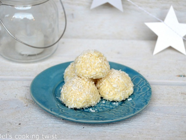 Petites boules à la noix de coco façon Raffaello