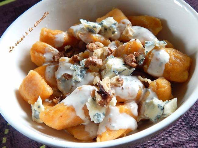 Gnocchis de butternut à la Fourme d'Ambert et aux noix
