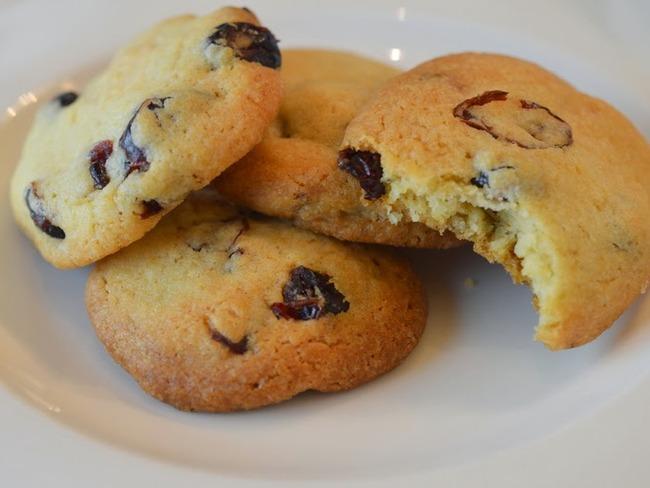 Christmas cookies: chocolat blanc & cranberries