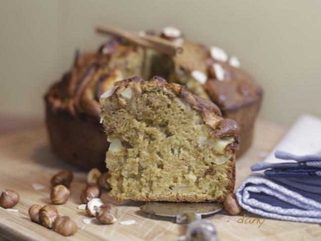 Gâteau pomme noisettes et cannelle