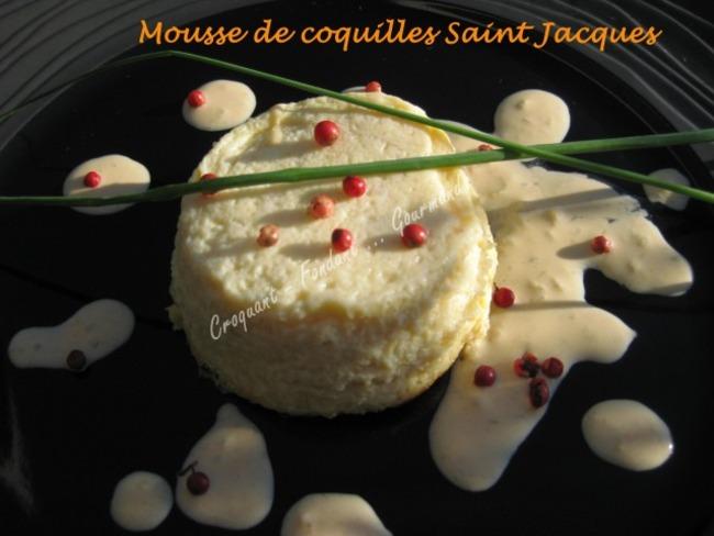 Mousse Saint Jacques sauce corail