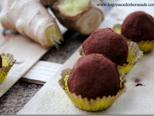 Truffes chocolat gingembre