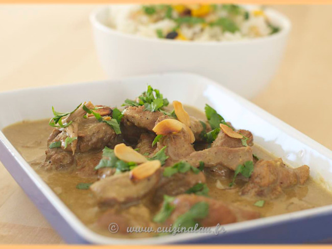 Curry de canard et riz à la mangue