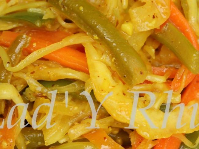 Les achards de légumes