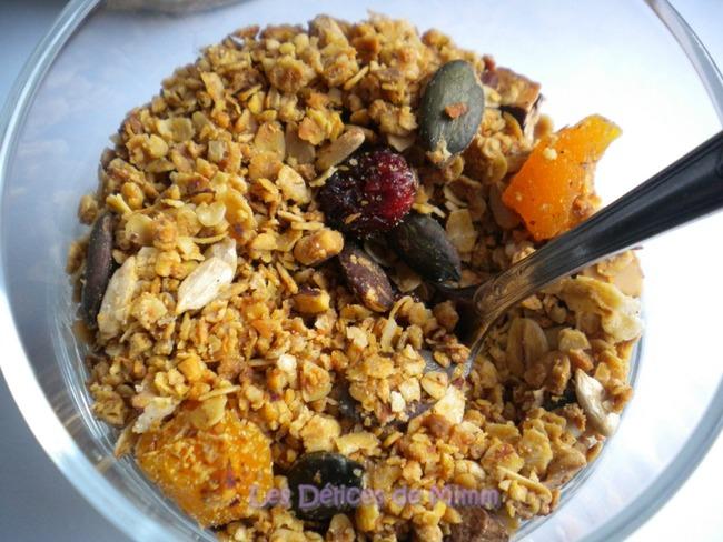 Granola maison au sirop d'érable et aux fruits secs