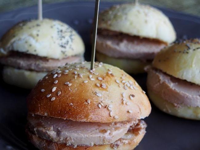 Mini burger foie gras/confit d'oignon