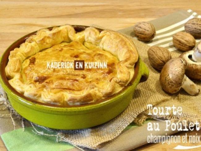 Tourte poulet champignon et noix de Jamie Oliver